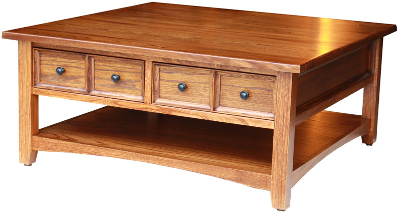 Open Garnet Coffee Table with Four Drawers