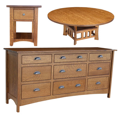 Salida Coffee Table, End Table and Master Dresser