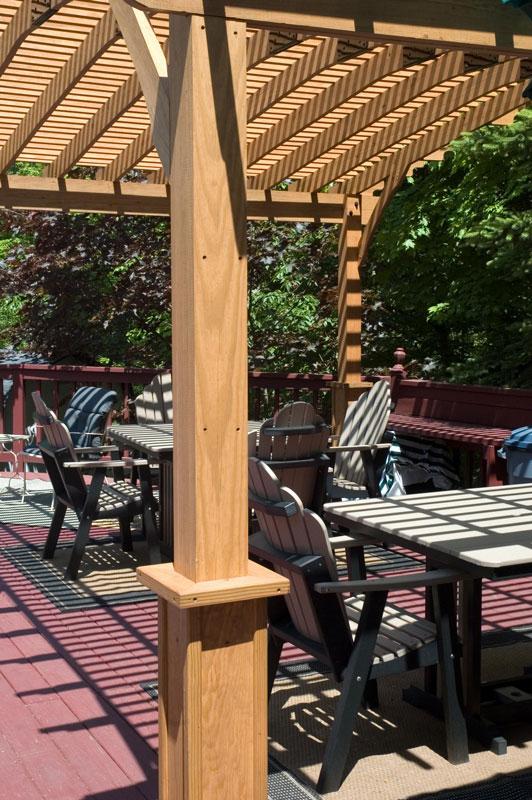 Riviera Pergola - Riviera Wood Pergola - Ohio Hardwood Furniture