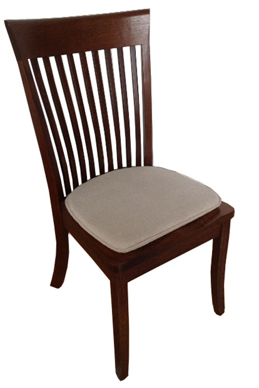 old world dining chair with a standard chair pad standard chair pad
