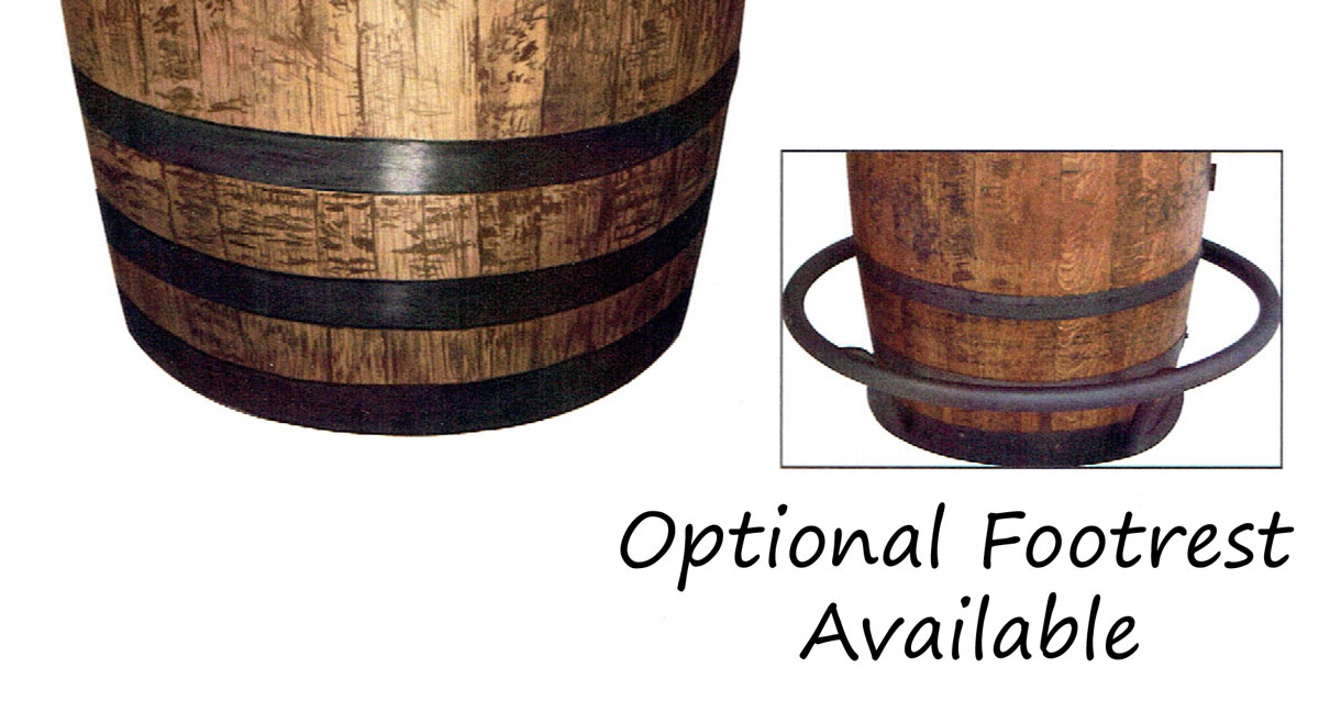 Barrel Table For Your Home Bar Made From Solid Hardwood