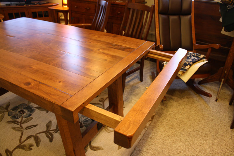 settlers trestle table ohio hardwood furniture