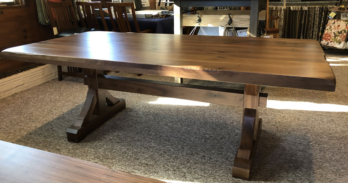 Barn Beam Trestle Table