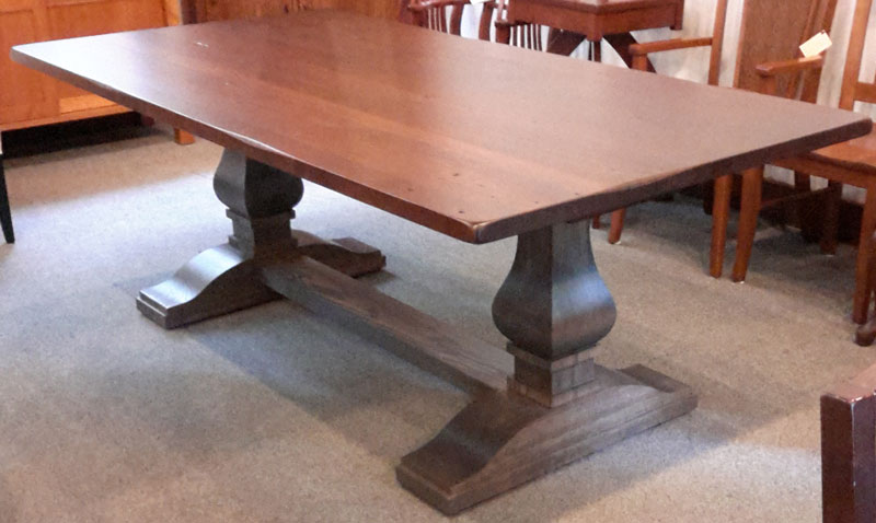 Hillside Double Pedestal Table With Optional Reclaimed Oak Top