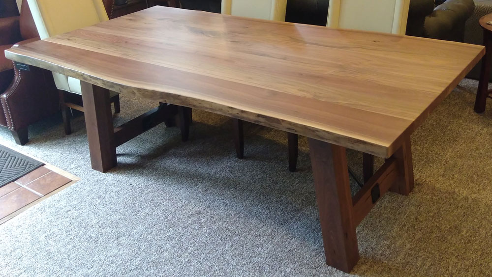 Live Edge Table With #401 Settlers Trestle Base