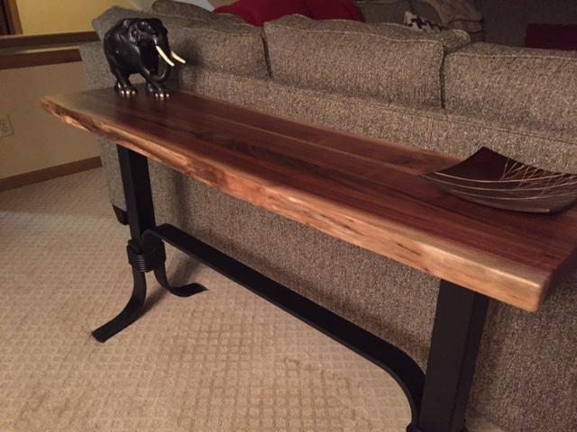 Wrap Around Live Edge Occasional Tables Ohio Hardwood Furniture - Live Edge Sofa Table