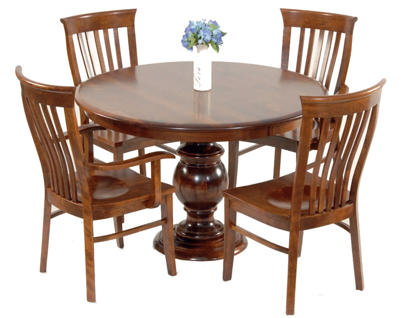 Roseville Pedestal Table Ohio Hardwood Furniture