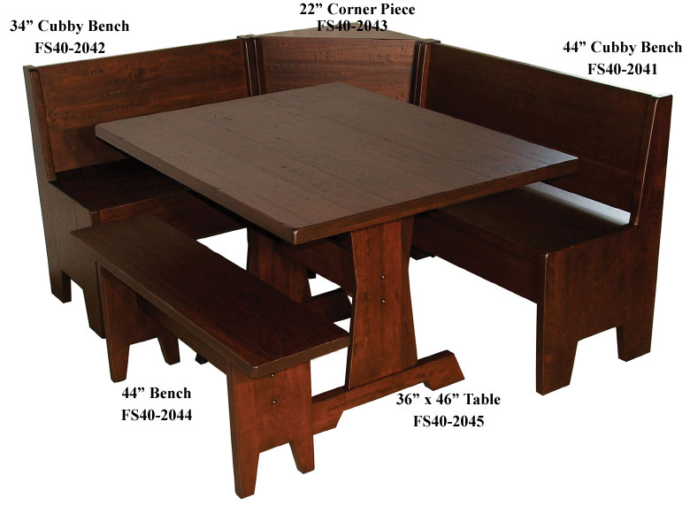 Fresh Heritage Breakfast Nook Set - Ohio Hardword & Upholstered Furniture TJ15