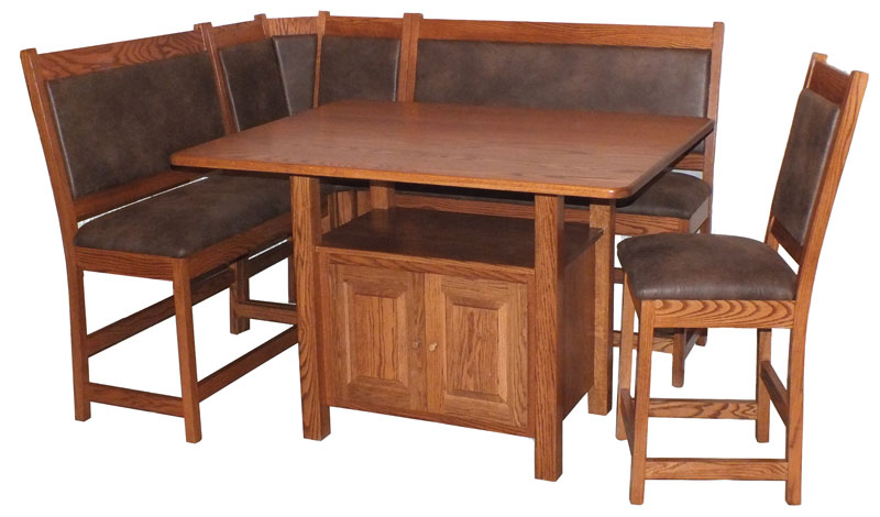 Bistro Corner Nook Set With Optional Leather Seats