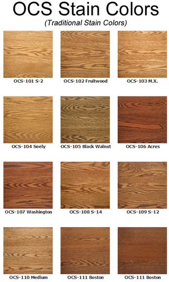Wood Stain Options Ohio Hardwood Amp Upholstered Furniture