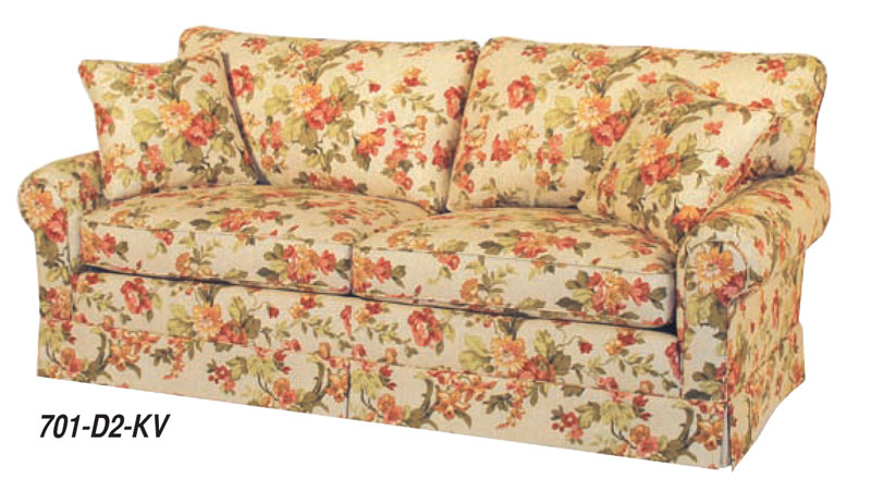 Monroe Sofa With 2 Cushions And Kick Valance (701 D2 KV)