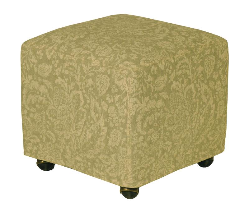 Upholstered Ottoman Cube 1818 Ohio Hardwood Furniture