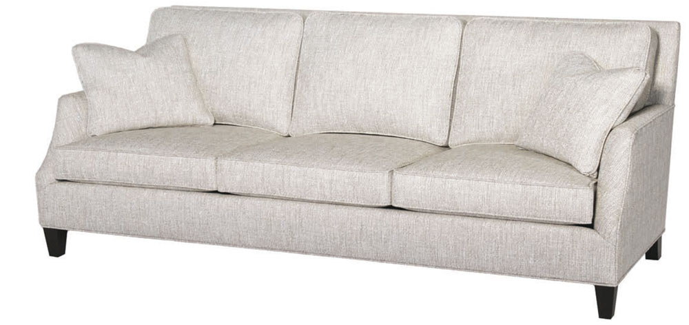 Mansfield Sofa At Standard Depth With A Square Tapered Leg 77 Lbcus Ld3