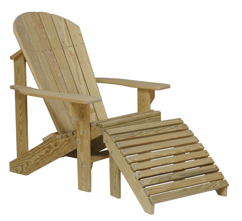 Treated Adirondack Chair with Footrest (sold separately)