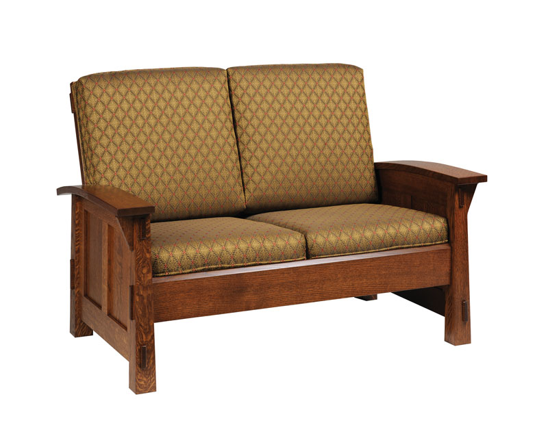 Olde Mission Loveseat Ohio Hardword Upholstered Furniture