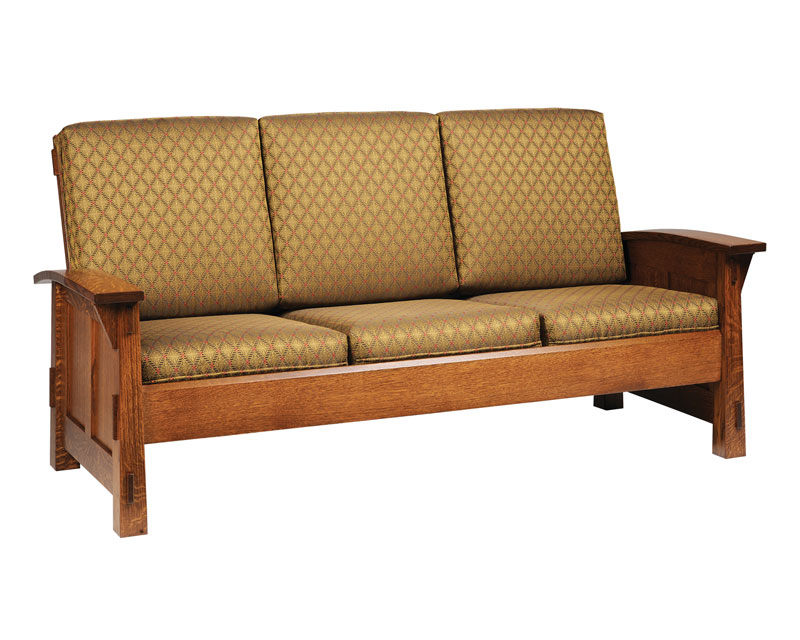 Mission Sofas American Made Mission Style Rift And Quarter Sawn Oak Leather Sofa Thesofa
