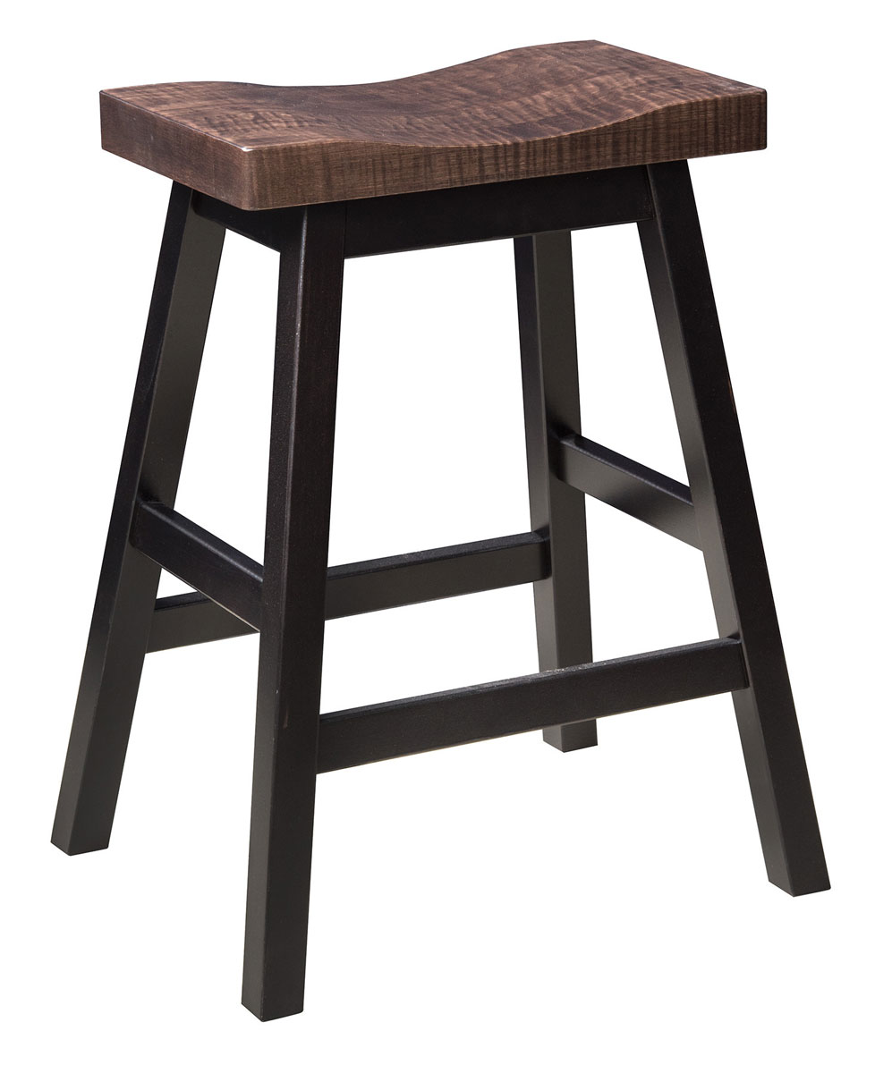 Boulder Creek 24 Inch Stool Ohio Hardwood Furniture