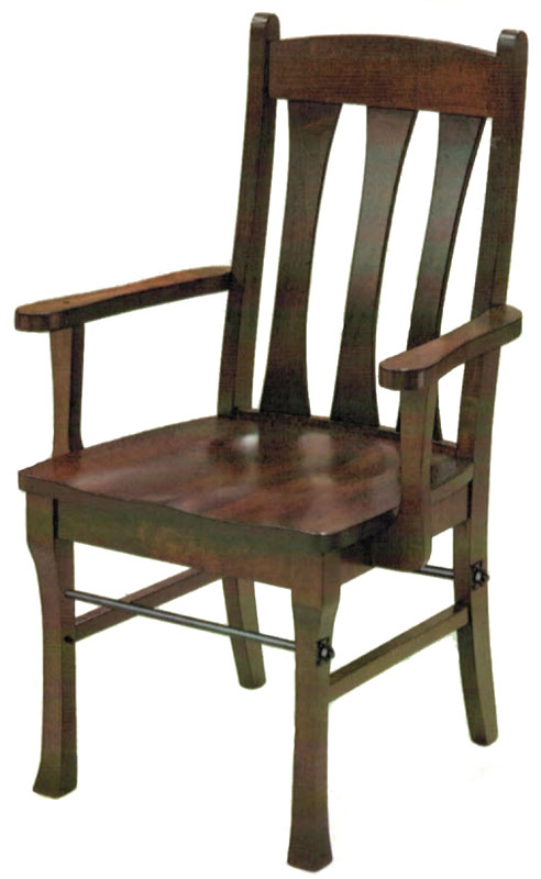 Cluff Arm Chair with Steel Rod