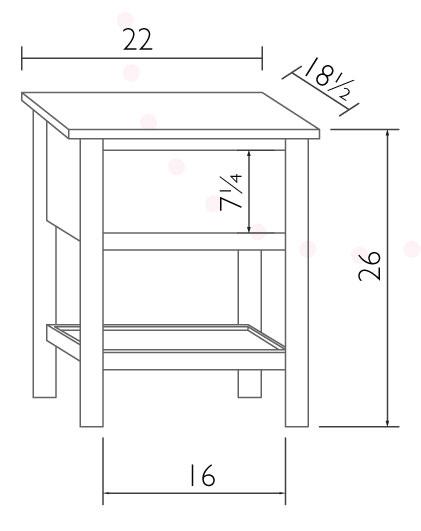 economy nightstand ohio hardwood furniture