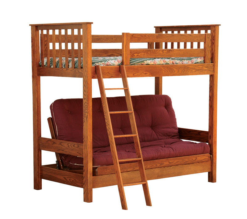 loft bed in oak dimensions 78 h x 81 1 2 w x 44 d the futon loft bed