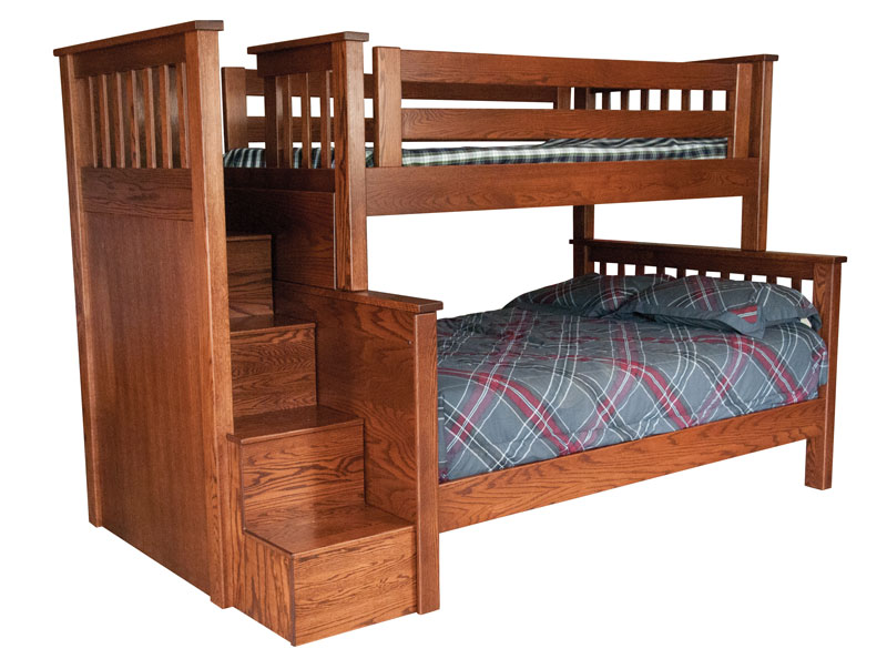 Miller S Mission Twin Full Bunk Bed With Step Unit
