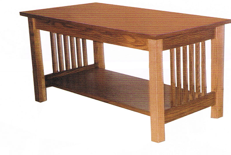 Charmant Mission Style Coffee Table With Slats