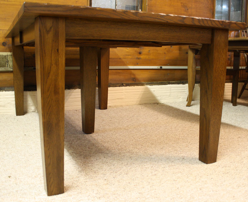 Ordinaire Big Leg Shaker Table End View