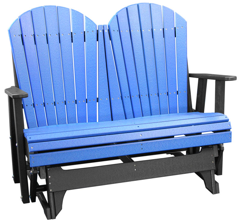 4' Adirondack Glider in Blue and Black