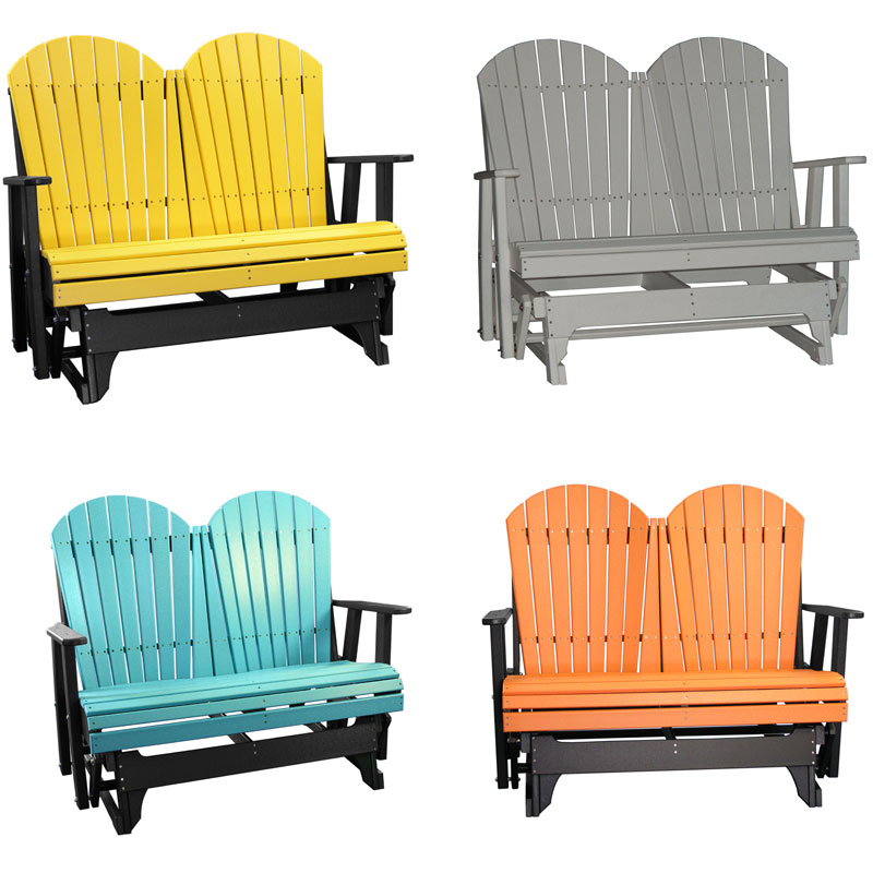 4' Adirondack Gliders in Various Colors