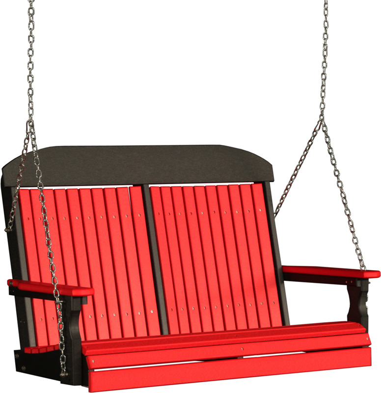 4' Classic Swing in Red and Black