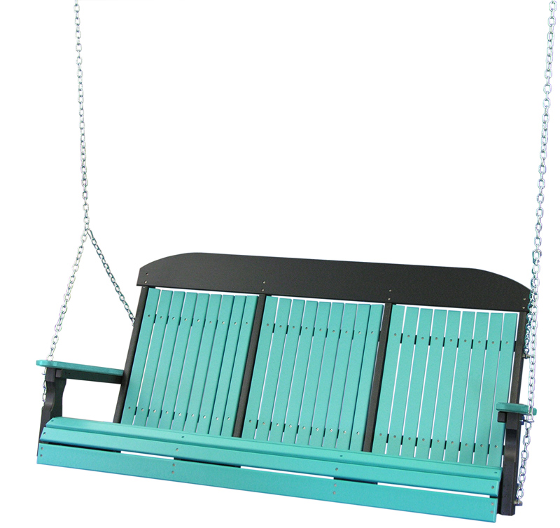 5' Classic Swing in Aruba Blue and Black