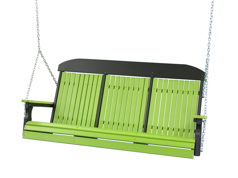 5' Classic Swing in Lime Green and Black