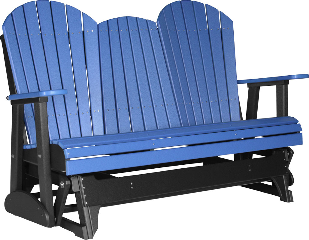 5' Adirondack Glider in Blue and Black