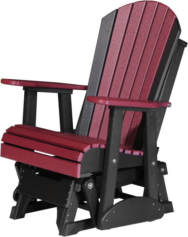2' Adirondack Glider in Cherrywood and Black