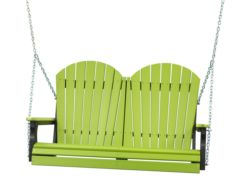 4' Adirondack Swing in Lime Green and Black