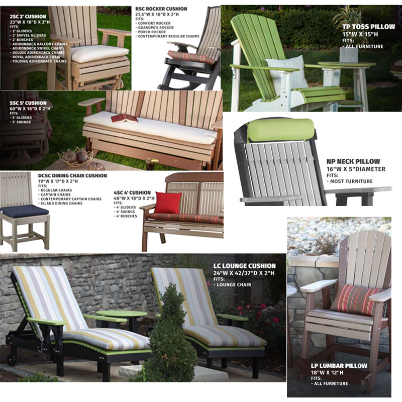 Rocker, Swing, Glider and Lounge Outdoor Cushions