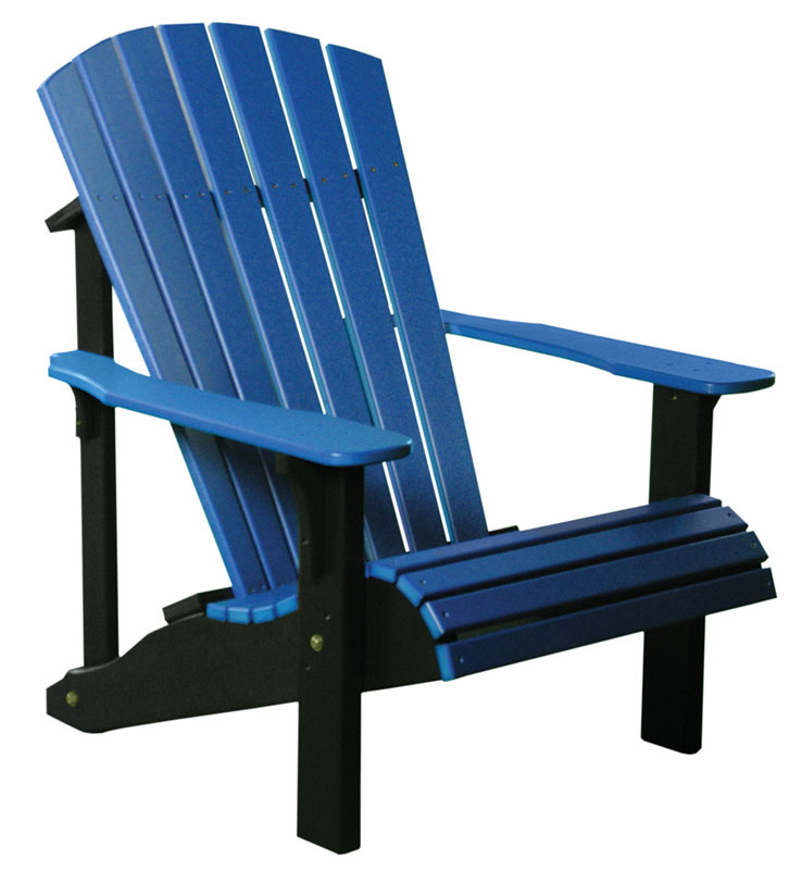 Deluxe Adirondack Chair In Blue And Black