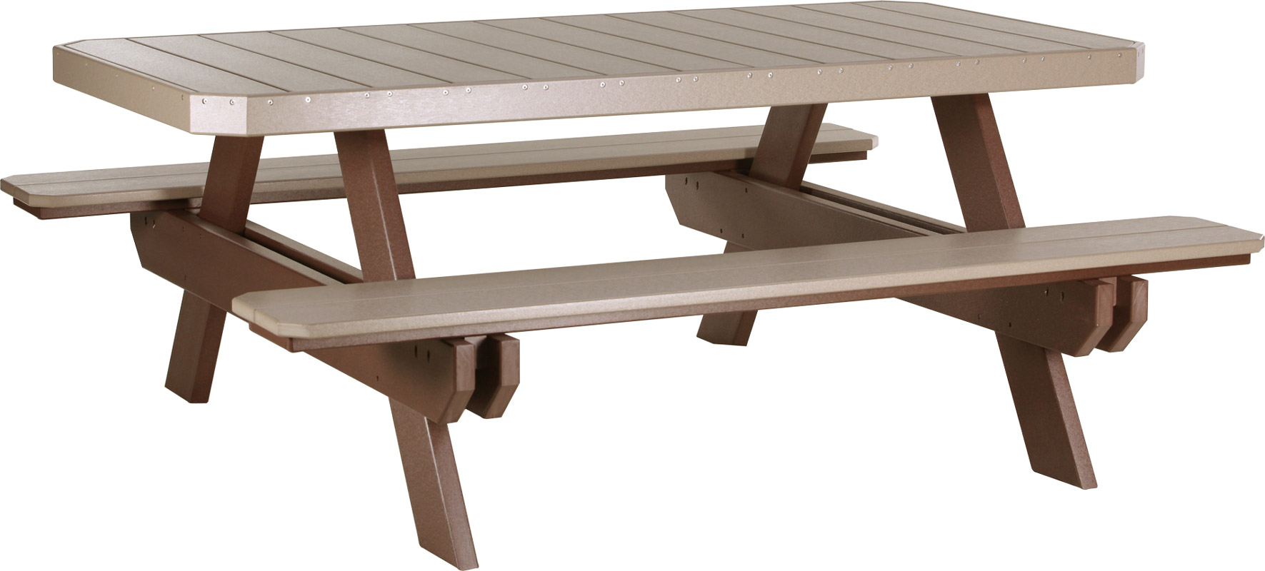 6' Poly Rectangle Picnic Table