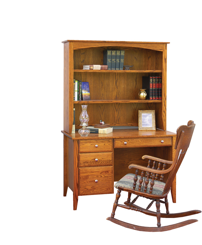 Hampton Knee Hole Desk and Hutch