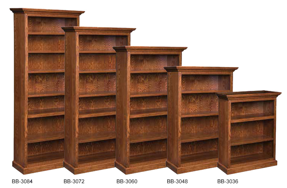 Brooklyn Bookcases in Oak with an OCS113 Michaels Stain