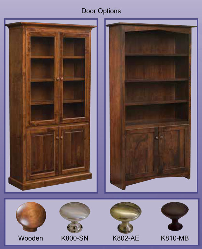 Brooklyn Bookcase Door and Hardware Options