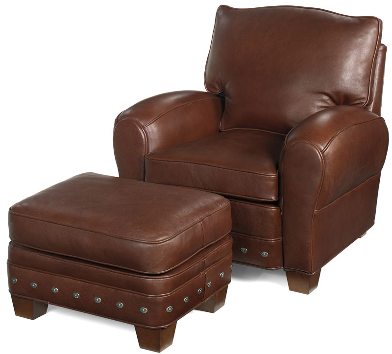 Stetson Ottoman 60 And Stetson Varitilt Chair 62 With Optional Nailhead  Trim (additional Cost)