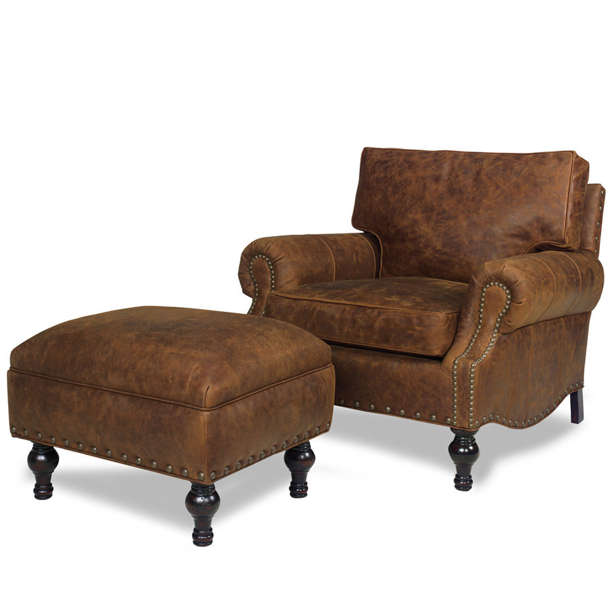 2170 Bronson Ottoman and 2171 Bronson Chair