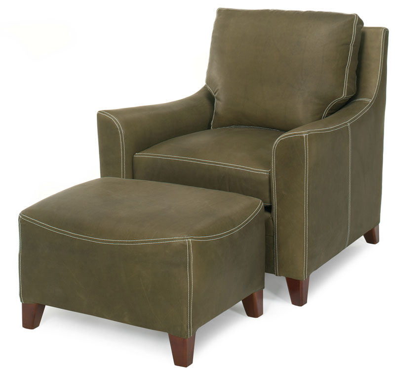 Frazier Contoured Euro Ottoman 2240 and Frazier Contoured Euro Chair 2241