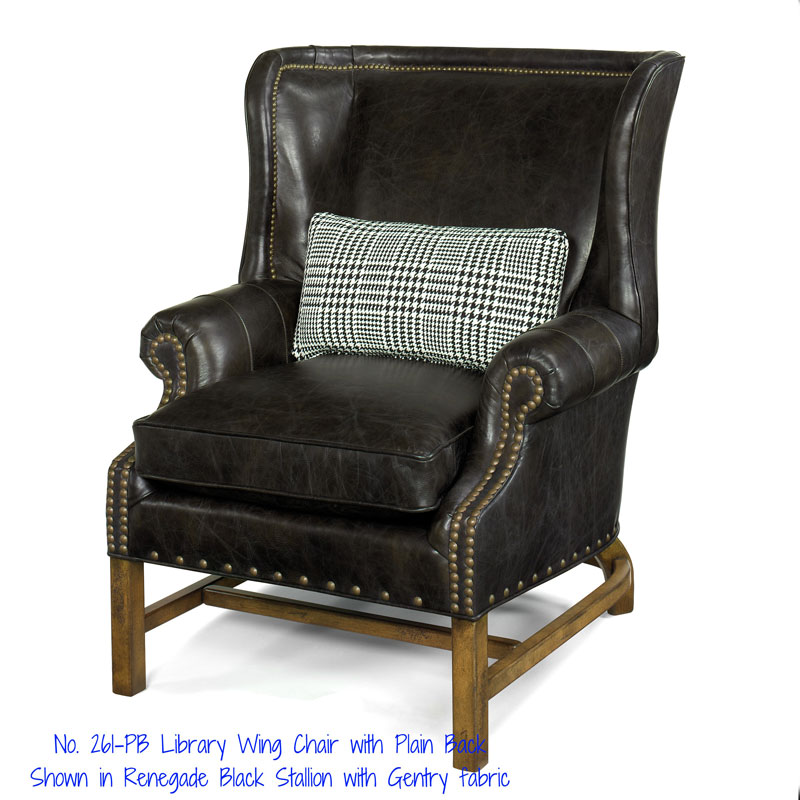 261-PB Hamilton Library Wing Chair
