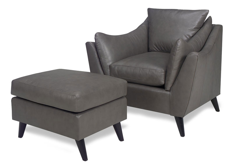 4171 Olivia Chair and 4170 Olivia Ottoman