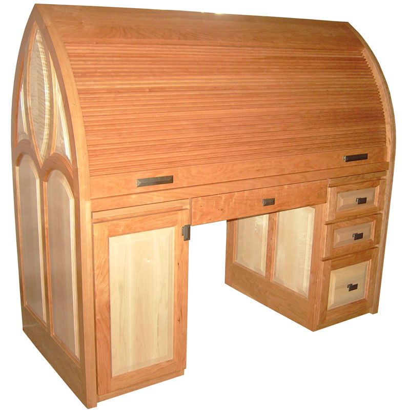Cathedral Roll Rop Desk