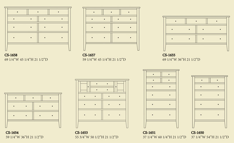 "Dresser Dimensions chelsea 69"" dresser - ohio hardword & upholstered furniture"