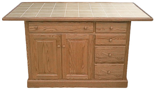 Traditional Raised Panel Island 74