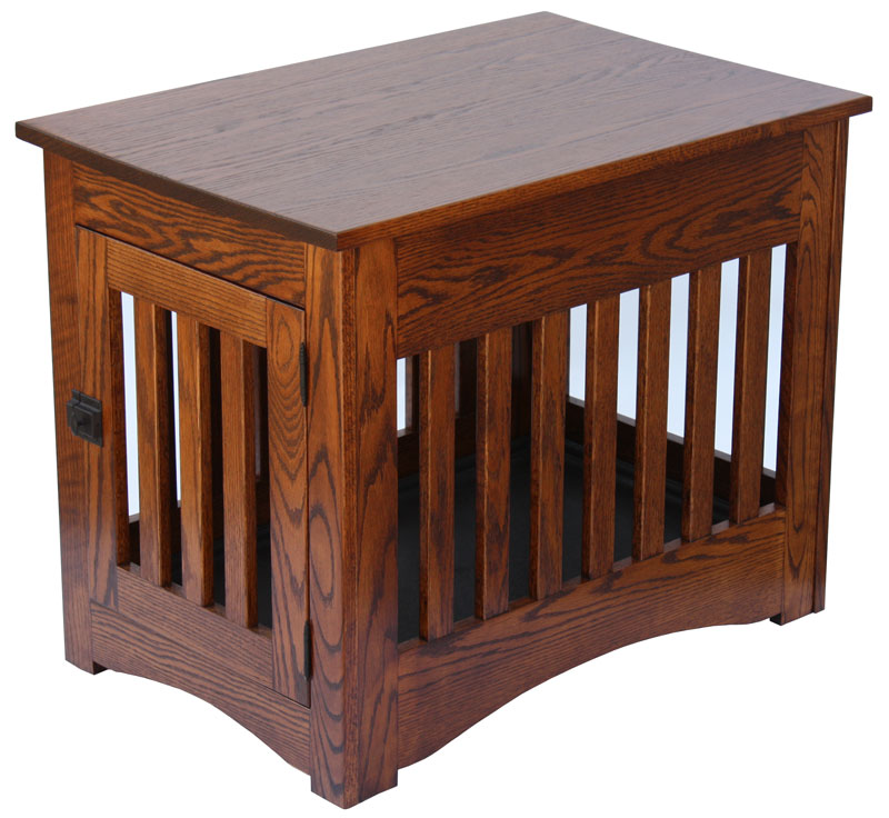 cool end table dog crate furniture | Mission Dog Crate End Table - Ohio Hardwood & Upholstered ...
